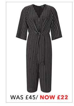 Striped Knot Front Jumpsuit