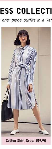 Shop Women's Cotton Shirt Dress
