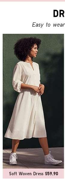 Shop Women's Soft Woven Dress