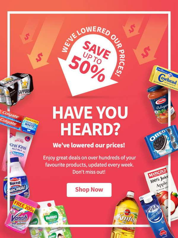 Enjoy great deals on your favourite household products, updated every week!