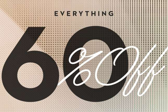 Everything 60% Off