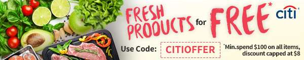 Try our fresh produce for FREE with Citibank Cards