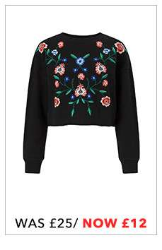 PETITE Embroidered Sweat Top