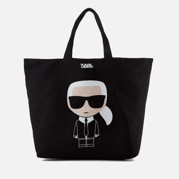 Karl Lagerfeld Women's K/Ikonik Canvas Bag - Black