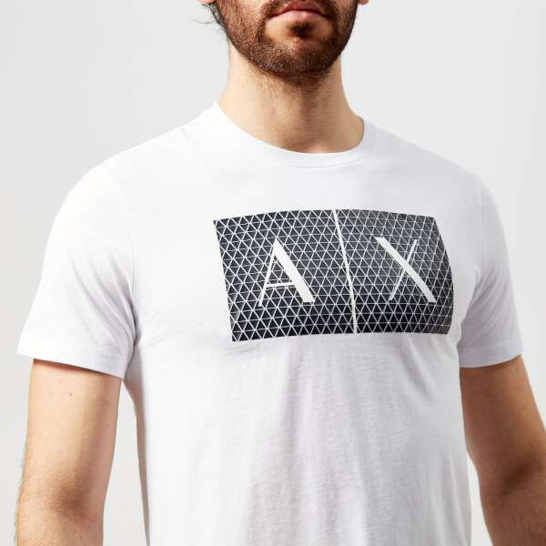 Armani Exchange Men's Ax Logo T-Shirt - White: Image 01