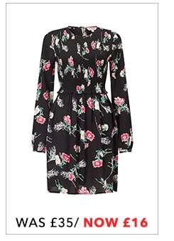 Floral Sheered Smocked Skater Dress