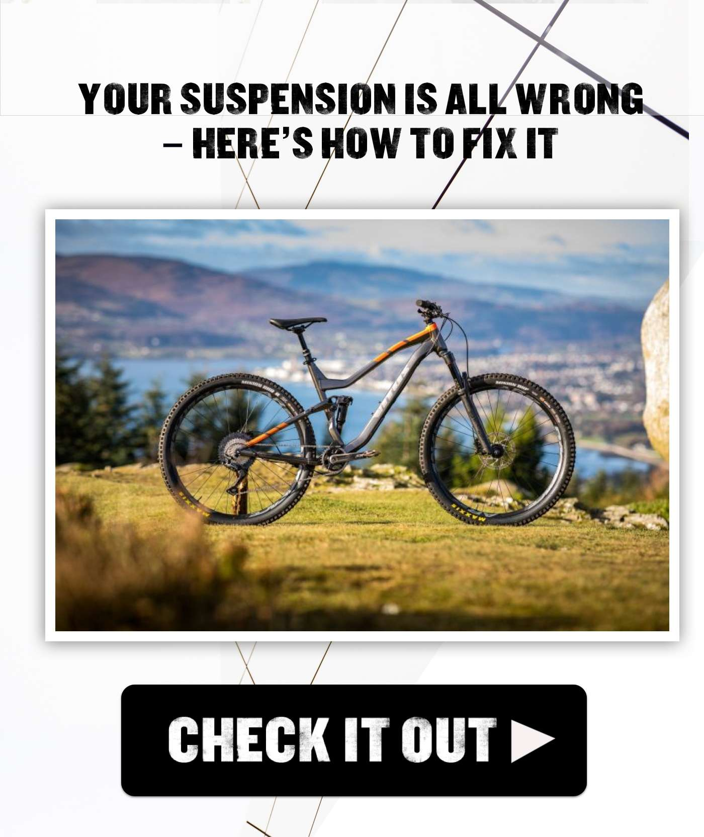 Your suspension is all wrong – here's how to fix it