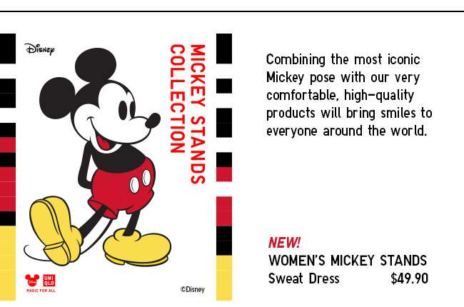 New! Women's Mickey Stands Sweat Dress at $49.90