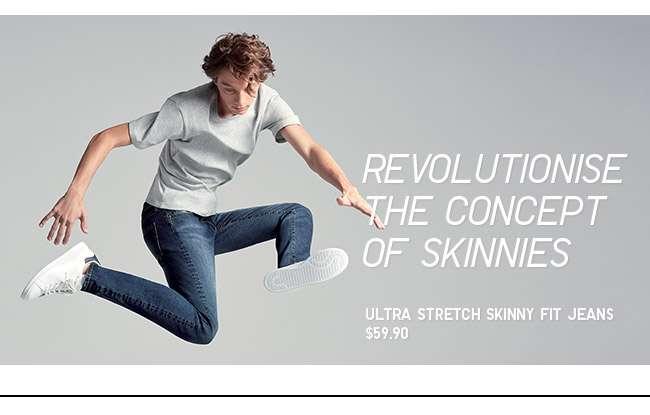 Shop Men's Ultra Stretch Skinny Fit Jeans at $59.90