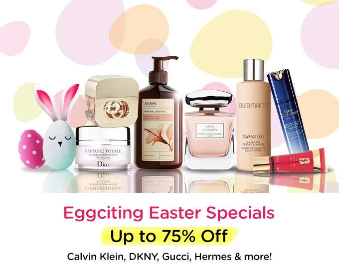 Eggciting Easter Specials Up to 75% Off! Calvin Klein, DKNY, Gucci, Hermes & more! Ends 02 Apr 2018