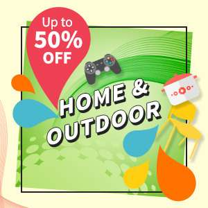 Up to 70% OFF on our home & outdoor category