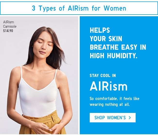 Stay cool in Women's AIRism.