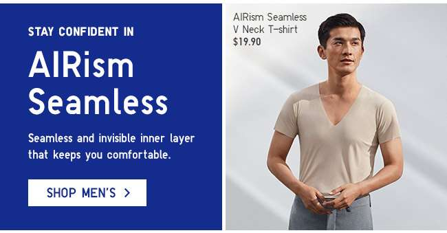 Stay confident in Men's AIRism Seamless.