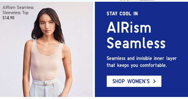 Stay cool in Women's AIRism Seamless.