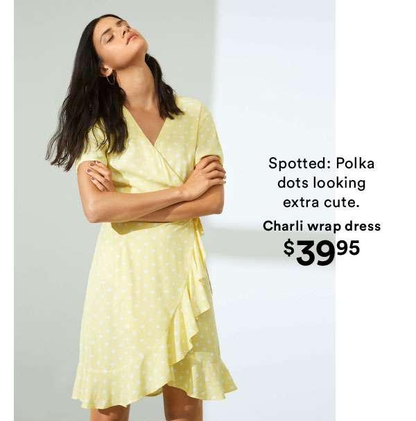 Charli wrap dress | Shop Now