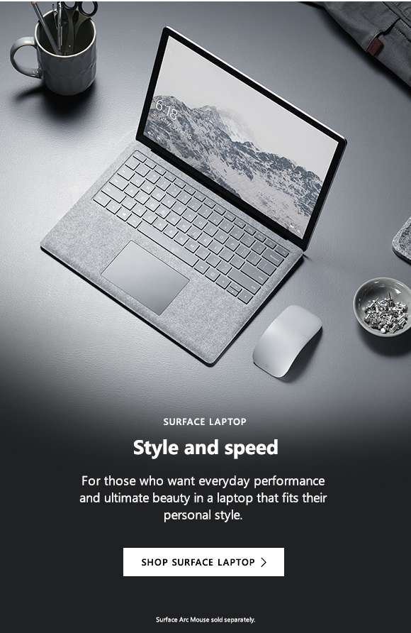 Surface Laptop. Style and speed. Shop Surface Laptop.