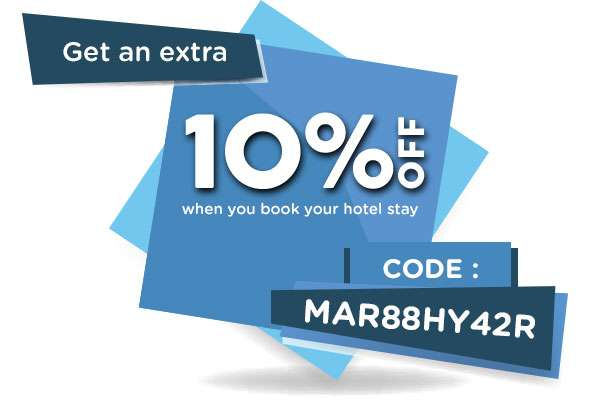 24 hours to book your hotel around the world with up to 40% OFF. Don't miss out - promo ends midnight!