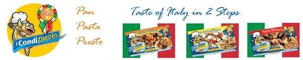 Taste of Italy in 2 steps with Condipresto. Presto!