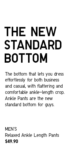 The New Standard Bottom | Men's Relaxed Ankle Pants at $49.90