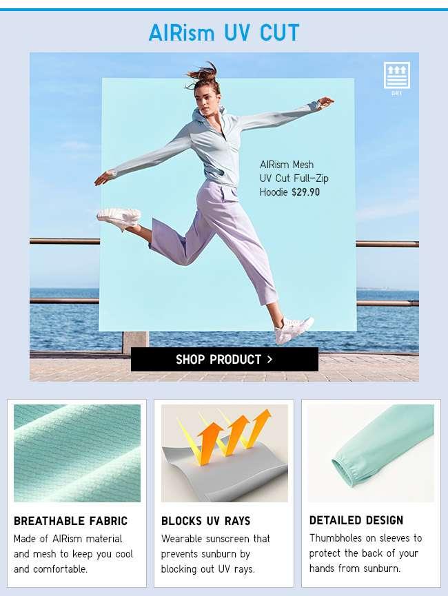 Shop Women's AIRism UV Cut Full-Zip Hoodie