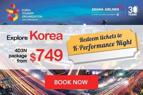 Complimentary K-Performance Night tickets + 4D3N package with Asiana Airlines