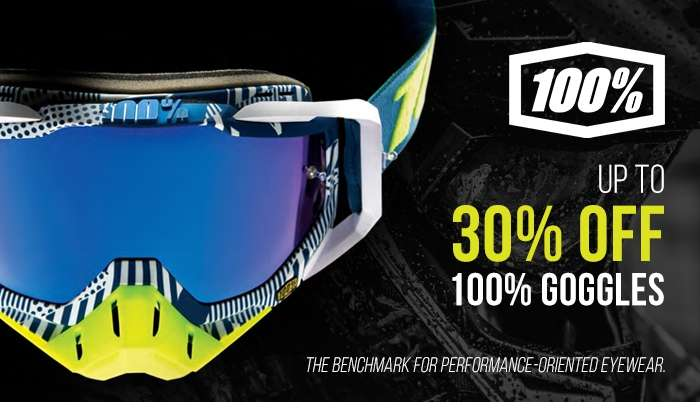 Up to 30% off 100% Goggles