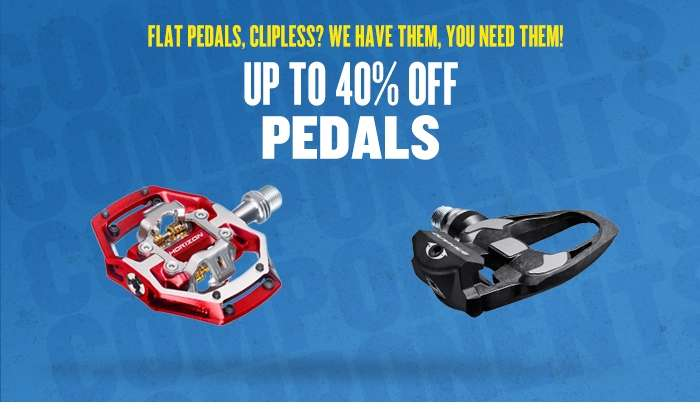 Up to 40% off our range of pedals