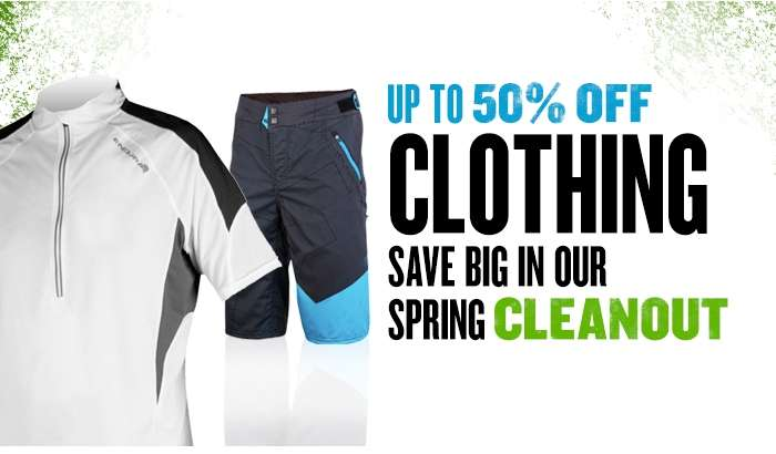 Spring Cleanout - Up to 50% Off Clothing