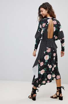 ASOS DESIGN mixed print dress
