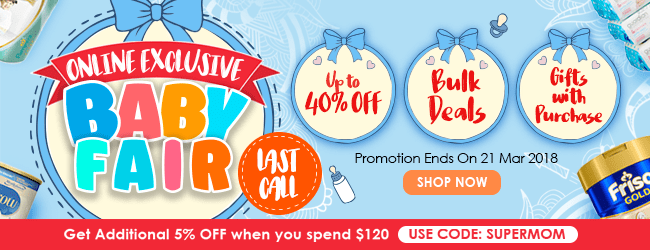 Last call on Online Exclusive Baby Fair!