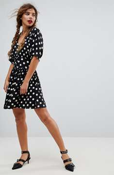 ASOS DESIGN mini tea dress