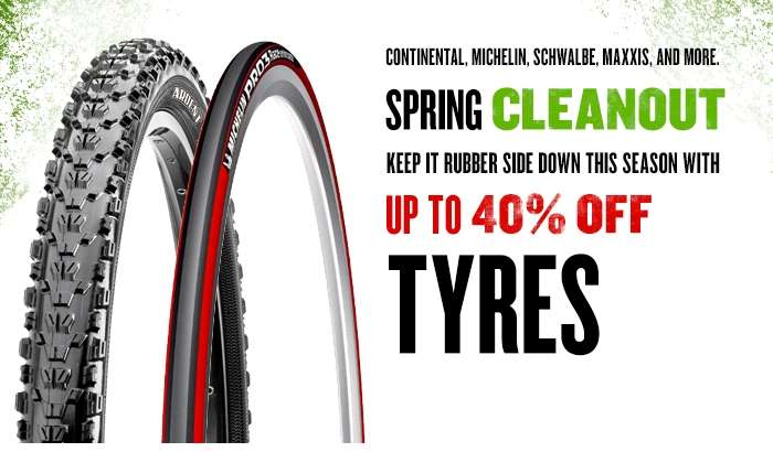 Save up to 40% on Tyres in our Spring Cleanout