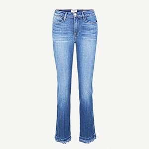 FRAME                                                                                  Frayed hem jeans