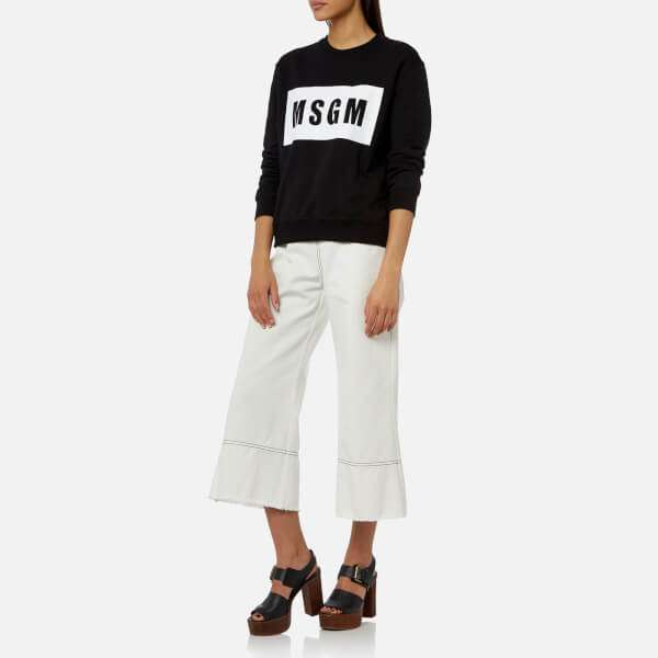 MSGM Women's Logo Sweatshirt - Black