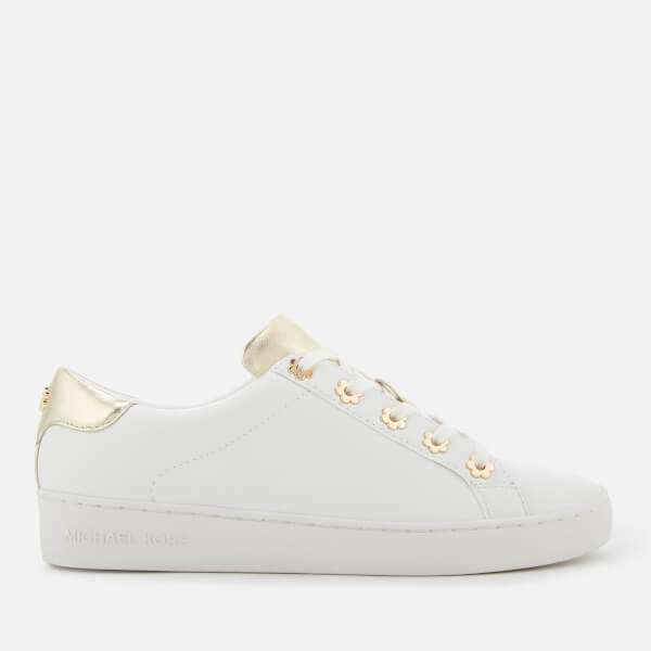 MICHAEL MICHAEL KORS Women's Irving Leather Low Top Trainers - Optic/Gold