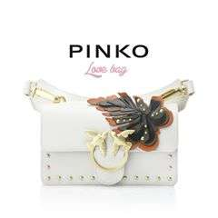 Love Birds, maxi leaves and golden mini studs: enjoy your nightouts or daily adventures with the new mini #PINKOLove bag. #PINKO #SS18