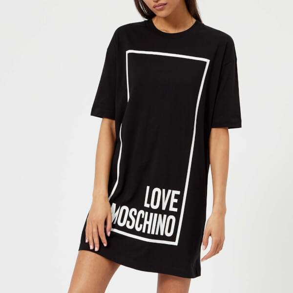 Love Moschino Women's Logo Box T-Shirt Dress - Black