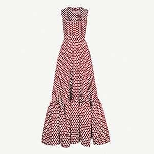 HUISHAN ZHANG                                                          Polka-dot jacquard gown