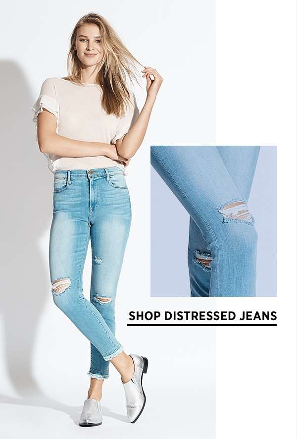 Shop Distressed Jeans