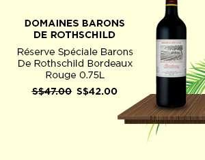 Domaines Barons De Rothschild Reserve Speciale Barons De Rothschild Bordeaux Rouge 0.75L S$42.00