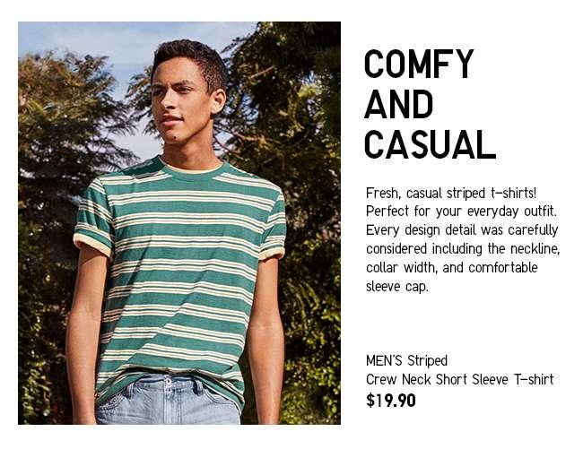 Men's Striped Crew Neck T-shirt at $19.90