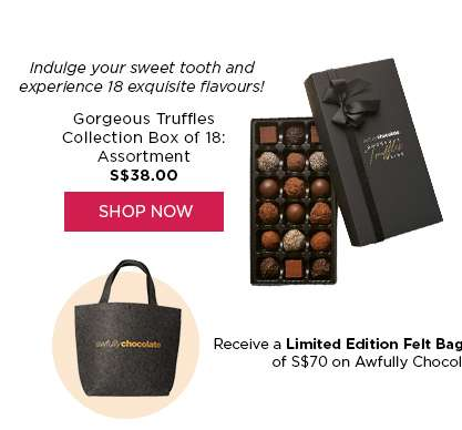 Buy Now: Gorgeous Truffles Collection Box of 18: Assortment S$38.00