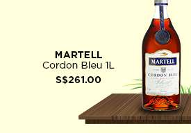 Martell Cordon Bleu 1L S$261.00