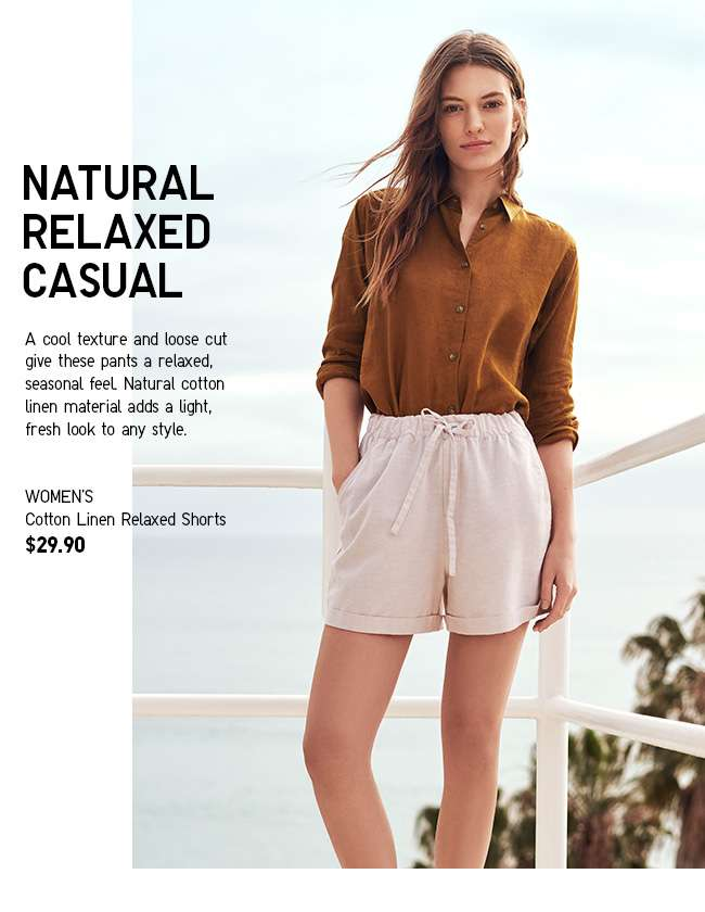 Shop Women's Cotton Linen Relaxed Shorts at $29.90