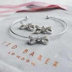 🎀💎#tedbaker #bow #jewelry #tedbakerjewellery #tedbakerbow #swarowski #crystals #bracelet #cuff #earrings