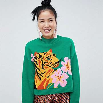 ASOS DESIGN tiger jumper