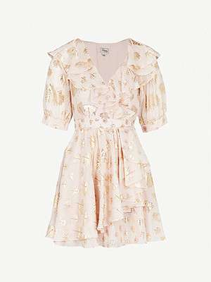 TEMPERLEY LONDON                                                          Riviera ruffled silk-blend dress