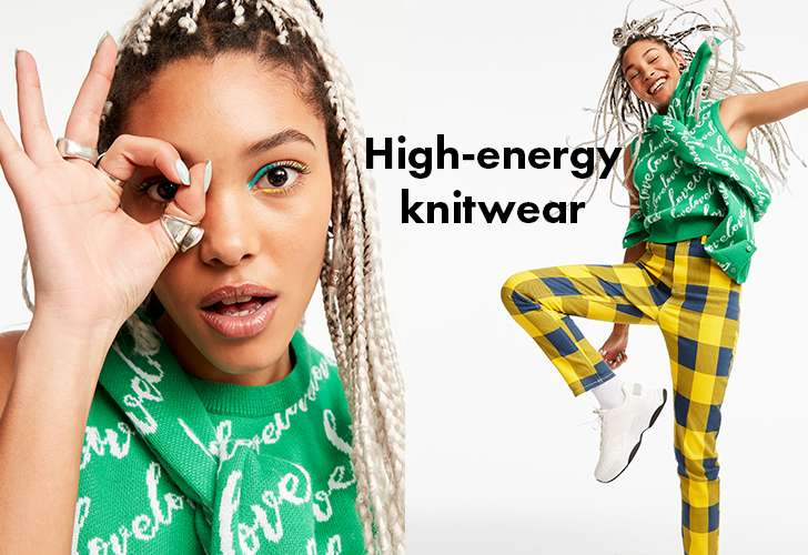 High-energy knitwear