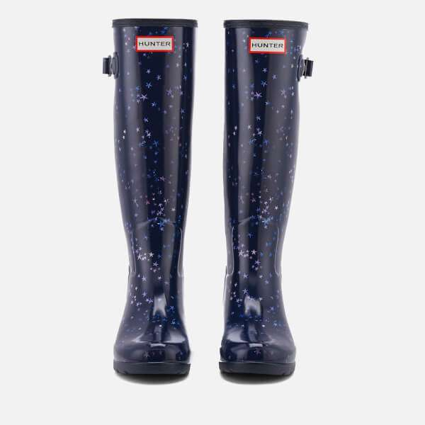 Hunter Women's Refined Constellation Print Tall Wellies - Midnight