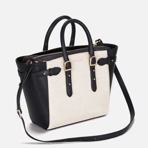 Aspinal of London Women's Marylebone Medium Tote Bag - Monochrome Mix: Image 31